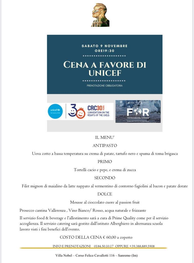 Cena di beneficenza a favore di Unicef