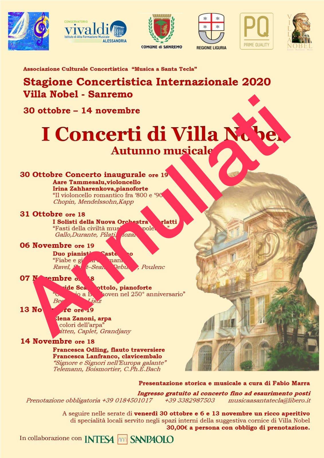 I concerti di Villa Nobel