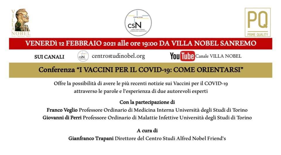 """Conferenza: """"I vaccini per il Covid-19: come orientarsi"""""""