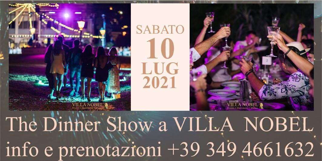 THE DINNER SHOW SABATO 10 LUGLIO 2021