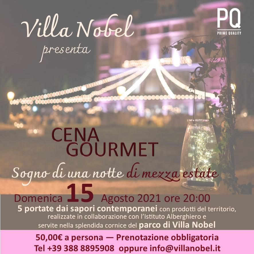 Cena gourmet – domenica 15 agosto 2021 – Sogno di una notte di mezza estate